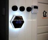 Despertador da indicação digital do espelho do pulso de disparo de parede da luz da noite do diodo emissor de luz