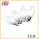 Las lámparas LED Ce RoHS aprobado E15 5W de plástico de la luz de velas LED Bombillas LED baratos