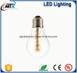 As luzes feericamente SAA A19 2W E27 do diodo emissor de luz aquecem a ampola branca do diodo emissor de luz Edison