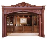 La decoración del hogar de madera de caoba maciza puerta jamba de la ventana del marco de moldeo (GSP17-007)