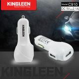 Kingleen C910 double batterie USB Chargeur voiture 5V2.1A Vente chaude