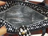 Sacchetto di spalla di cuoio della borsa del Tote del vino dell'unità di elaborazione con il di alluminio