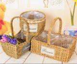 (BC-SF1017) respetuoso del medio ambiente natural hecho a mano de paja cesta de la flor