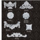 Applique ornamental de la PU de los moldeados del poliuretano y decoración Hn-S002 del sobrepuesto