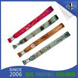 Wristband di festival del tessuto di marchio personalizzato alta qualità