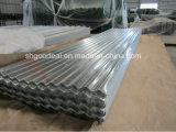 10-100-1100 galvanizado soldado enrollado en el ejército acanalado de la hoja para la hoja del material para techos del metal