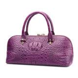 Sacchetto di Tote del coccodrillo della borsa del progettista del cuoio genuino delle donne