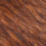 Franco della pelliccia del tessuto di falsificazione della pelliccia del Faux della pelliccia di tessuto a riccio lungo con il mackintosh