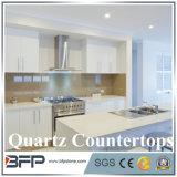 Comptoir de quartz pour compteur des armoires de cuisine haut de page dans le musoir Edge