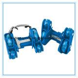 調節可能な四輪PVC LED車輪の点滅のローラースケート
