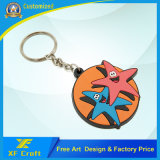 100% precio de fábrica personalizó la etiqueta suave del anillo dominante del PVC para el recuerdo (XF-KC-P06)