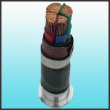 Geïsoleerd pvc van de Leider van het koper en het In de schede steken de Kabel van de Macht 3X150mm2