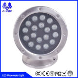Brillo 12W IP68 del color de DMX512 RGB/Single el alto impermeabiliza la luz subacuática del LED