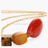 Perles longues Colliers et pendentifs en chaîne Ensemble acrylique coloré à la main et tendance Nouveau
