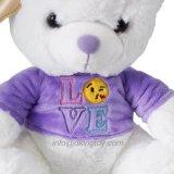 Beau cadeau pour les ours en peluche en peluche et en couleur rouge violet