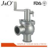 Válvula de inversão manual de aço sanitária de Staninless