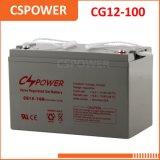 Batería recargable del gel de Cg12-100 12V100ah, sistema solar de la UPS, energía solar