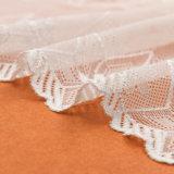 Fashion Allover Floral Polyester Water Soluble Designer Dentelle en blanc