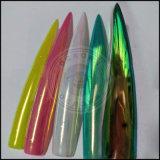 Chameleon Aurora Rainbow Unicorn наружного зеркала заднего вида искусства Chrome пигментом ногтей