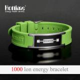 Wristband popolare del silicone per unisex con l'elastico dello ione negativo