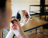 Wekker van de Digitale Vertoning van de Spiegel van de Klok van de LEIDENE Muur van de Nacht de Lichte