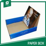 Caja de presentación de los rectángulos de papel de Kraft de los fabricantes (BOSQUE PILA DE DISCOS 016)