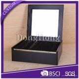 Book Open Design Leather Box com MDF Gift Packaging Box