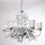 Cristallo floreale decorativo con il lampadario a bracci di vetro libero dello schermo con approvazione dell'UL