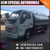 Caminhão de petroleiro fresco do leite do caminhão de tanque do transporte do leite de Forland 5ton