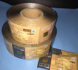 Película modificada para requisitos particulares OEM popular de la bolsa de China de las galletas en rodillo