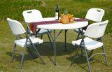 백색 옥외 플라스틱 접는 의자 정원 가구 HDPE Table&Chair