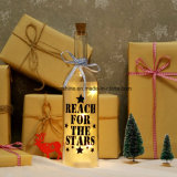 El resplandor de la botella de la luz de las estrellas enciende para arriba el regalo de la botella de vino para la decoración del hogar del dormitorio