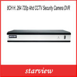 câmara de segurança DVR do CCTV de 8CH H. 264 720p Ahd