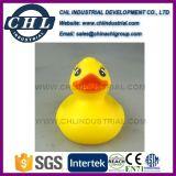 Canard de vinyle en caoutchouc jaune flottant promotionnel pour bain de bébé