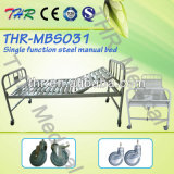 ThrMbs031単一機能鋼鉄手動病院用ベッド