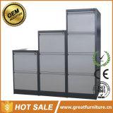 2 3 gabinete do escritório do metal do armazenamento de arquivo do punho do aço inoxidável do indicador de 4 gavetas