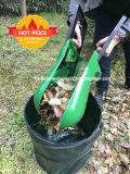 Листья сада сгребают сгребалки руки сада