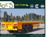 Semi-remolque plano 3axle (hecho en China)