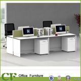 Eenvoudige stijl 4 Werkstation van de Verdeling van de Lijst van het Bureau van Zetels het Rechte