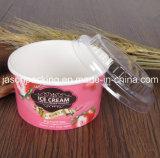 Taza de papel disponible impresa aduana del helado