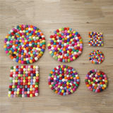 Tapete Handmade de lãs do multi tapete dos tapetes da esfera de feltro da cor