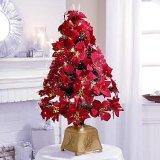 赤い花のクリスマスツリー(ST-F36)