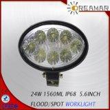 24W pour lampe de travail LED ovales off road