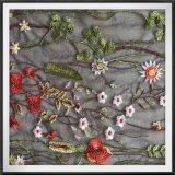 Шнурок вышивки Tulle поли шнурка вышивки сетки флористический