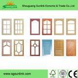 固体木の食器棚のドア