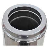 Cer-Doppelwand-Torsion-Verschluss-gerades Kamin-Rohr