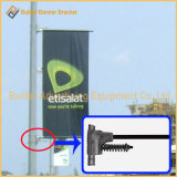 Rue Pôle en métal annonçant le fixateur de signe (BT-BS-049)