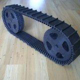 Piste en caoutchouc de robot (76*12.7*120) avec le poids léger
