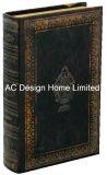 Antigüedades hermoso relieve Vintage de cuero de PU/almacenamiento de madera MDF cuadro Libro