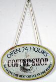 De hete Plaque van het Decor van de Muur van de Druk van het Metaal van het Ontwerp van de Koffie